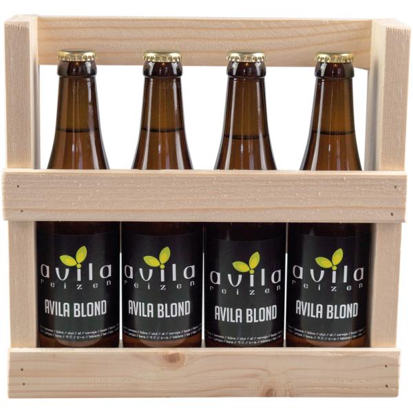 Avila biertjes in houten houder