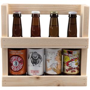 Haarlemse speciaal biertjes in houten houder