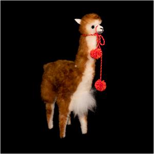 Bruine vicuña uit Peru