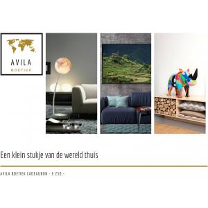 Avila Boetiek cadeaubon 250 euro