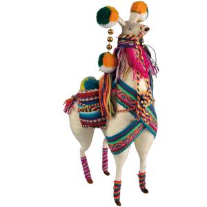 Witte lama uit Peru